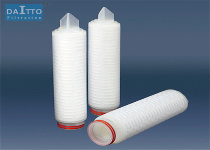 Hydrophilic PTFE Membrane Filter Cartridge , Polypropylene Water Filter Cartridge