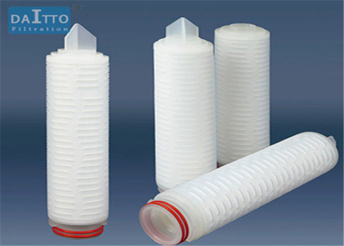 Single / Double Layer Pleated Filter Cartridge Imported Polypropylene Membrane